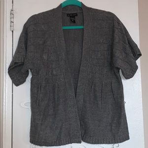 Open front cable sweater